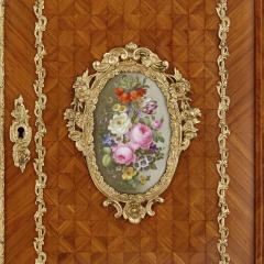 Louis Grade Napoleon III period gilt bronze and porcelain mounted cabinet by Louis Grade - 2003839