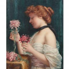 Louis Justin Maurice Perrey Le Bouquet des Fleurs antique oil painting by Perrey - 1274673