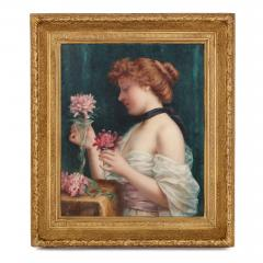 Louis Justin Maurice Perrey Le Bouquet des Fleurs antique oil painting by Perrey - 1274678
