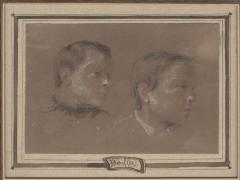 Louis Leopold Boilly Two Portrait Studies of Young Boys possibly artists sons  - 1020051