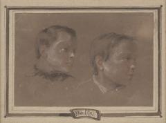 Louis Leopold Boilly Two Portrait Studies of Young Boys possibly artists sons  - 1020058