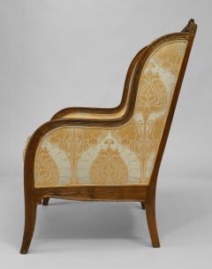 Louis Majorelle French Art Nouveau Walnut Bergere Armchair - 422139