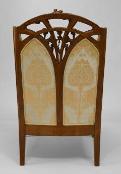 Louis Majorelle French Art Nouveau Walnut Bergere Armchair - 422140