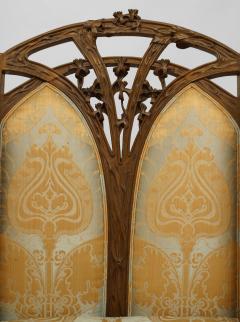 Louis Majorelle French Art Nouveau Walnut Bergere Armchair - 422142
