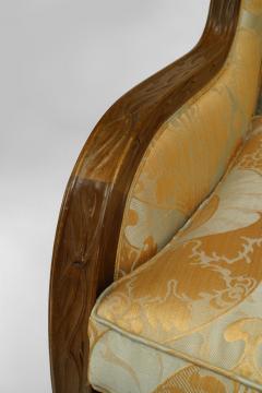 Louis Majorelle French Art Nouveau Walnut Bergere Armchair - 422144