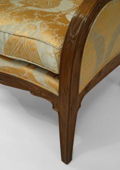 Louis Majorelle French Art Nouveau Walnut Bergere Armchair - 422145