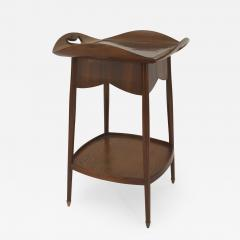 Louis Majorelle French Art Nouveau Walnut Square End Table - 429416