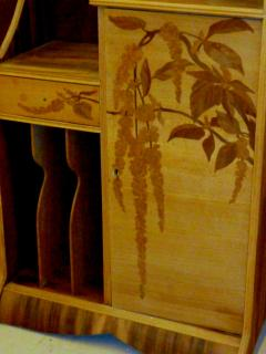 Louis Majorelle Louis Majorelle Cabinet with Wisteria Marquetry - 295636