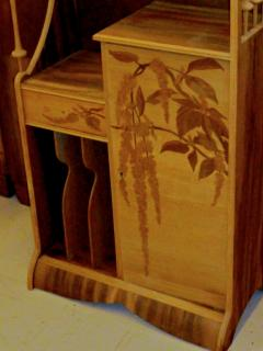 Louis Majorelle Louis Majorelle Cabinet with Wisteria Marquetry - 295637