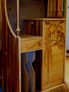 Louis Majorelle Louis Majorelle Cabinet with Wisteria Marquetry - 295638