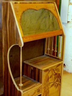 Louis Majorelle Louis Majorelle Cabinet with Wisteria Marquetry - 295639
