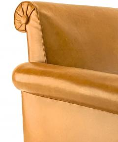 Louis Majorelle Louis Majorelle pair of comfy Art Deco club chairs newly restored in leather - 1519809