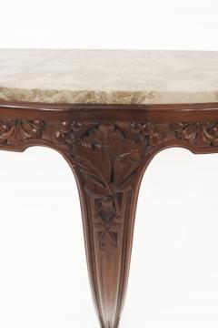 Louis Majorelle Pair of French Art Nouveau Mahogany Bracket Console Tables - 428967