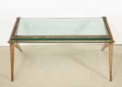 Louis Paolozzi LOW OAK AND GLASS TABLE BY LOUIS PAOLOZZI - 1674635
