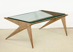 Louis Paolozzi Oak And Glass Table By Louis Paolozzi France C 1950   504892
