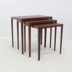 Louis Pontoppidan Set Of Three Danish Modern Nesting Tables Designed By  Ludvig Pontoppidan   334101