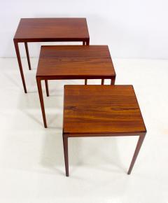 Louis Pontoppidan Set Of Three Danish Modern Nesting Tables Designed By  Ludvig Pontoppidan   334103