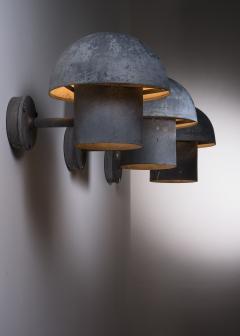 Louis Poulsen Bjarne Bech set of 6 steel wall lamps for Louis Poulsen - 2019420