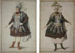 Louis Rene Boquet Pair of Designs for Ballet Costumes - 1012647