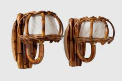 Louis Sognot BAMBOO WALL SCONCES ATTRIBUTED TO LOUIS SOGNOT - 1627913