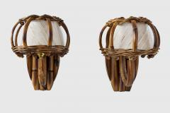 Louis Sognot BAMBOO WALL SCONCES ATTRIBUTED TO LOUIS SOGNOT - 1627919