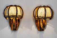 Louis Sognot BAMBOO WALL SCONCES ATTRIBUTED TO LOUIS SOGNOT - 1627920