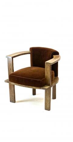 Louis Sognot Louis Sognot rarest modernist oak office chair and seat set - 1528489