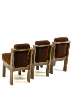Louis Sognot Louis Sognot rarest modernist oak office chair and seat set - 1528491