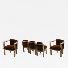 Louis Sognot Louis Sognot rarest modernist oak office chair and seat set - 1528674