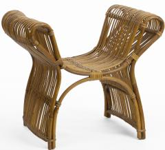 Louis Sognot louis sognot attributed superb rattan throne shaped bench - 1651721