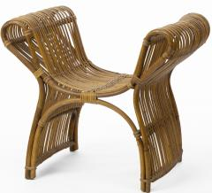 Louis Sognot louis sognot attributed superb rattan throne shaped bench - 1651722
