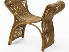 Louis Sognot louis sognot attributed superb rattan throne shaped bench - 1651726