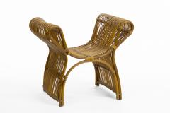 Louis Sognot louis sognot attributed superb rattan throne shaped bench - 1651727