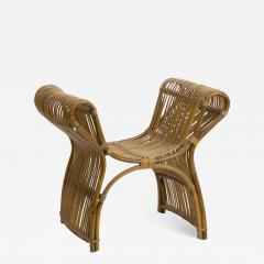 Louis Sognot louis sognot attributed superb rattan throne shaped bench - 1651955
