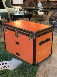 Louis Vuitton Rare Louis Vuitton Orange Trunk with Initials circa 1930s - 852893