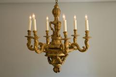 Louis XIV Carved and Gilded Wood Chandelier - 63517