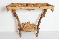 Louis XV French Console Table with Marble Top - 1984096
