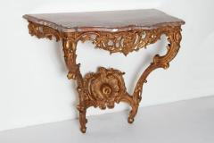 Louis XV French Console Table with Marble Top - 1984105