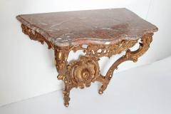 Louis XV French Console Table with Marble Top - 2136144