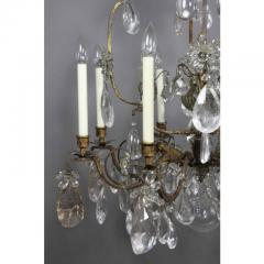 Louis XV Gilded Wrought Iron and Rock Crystal Chandelier - 1532242