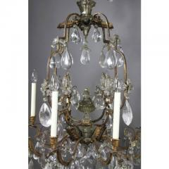 Louis XV Gilded Wrought Iron and Rock Crystal Chandelier - 1532243