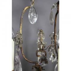 Louis XV Gilded Wrought Iron and Rock Crystal Chandelier - 1532245