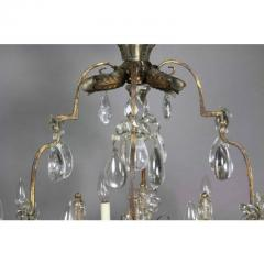Louis XV Gilded Wrought Iron and Rock Crystal Chandelier - 1532254