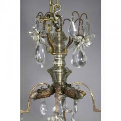 Louis XV Gilded Wrought Iron and Rock Crystal Chandelier - 1532255