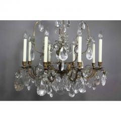 Louis XV Gilded Wrought Iron and Rock Crystal Chandelier - 1532256