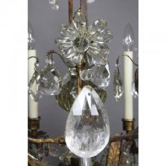 Louis XV Gilded Wrought Iron and Rock Crystal Chandelier - 1532257