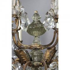 Louis XV Gilded Wrought Iron and Rock Crystal Chandelier - 1532273