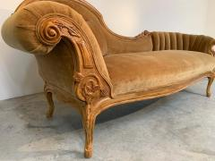 Louis XV Hand Carved French Meridienne Sofa - 2005151