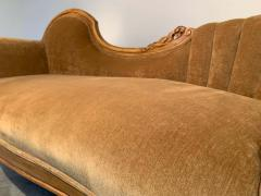 Louis XV Hand Carved French Meridienne Sofa - 2005152