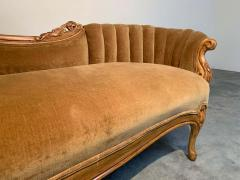 Louis XV Hand Carved French Meridienne Sofa - 2005153